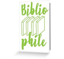 BIBLIOPHILE with books Greeting Card