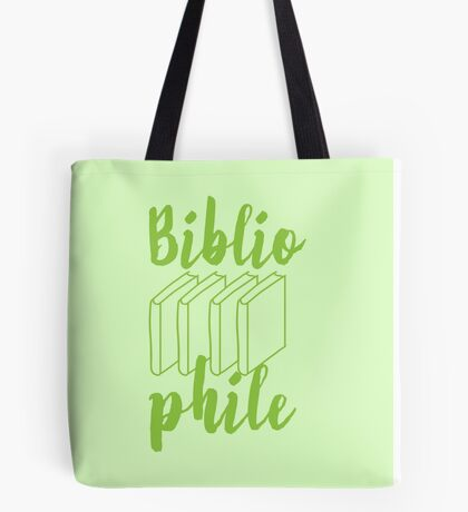BIBLIOPHILE with books Tote Bag