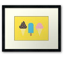 Ice Creams Framed Print