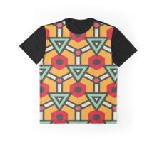 Triangles and hexagons pattern Graphic T-Shirt