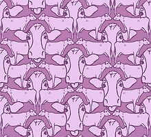 Repeating Cow pattern by Patrick Hawkins