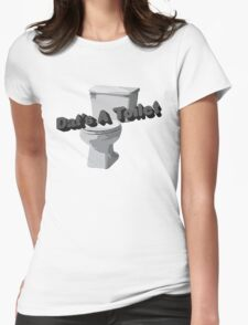 Dat's A Toilet Womens Fitted T-Shirt