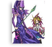 Yugi and The Dark Magician Canvas Print