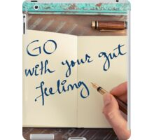 Motivational concept with handwritten text GO WITH YOUR GUT FEELING iPad Case/Skin