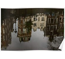 Amsterdam - Moody Canal Reflections in the Rain Poster