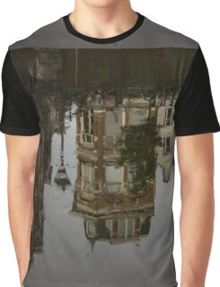 Amsterdam - Moody Canal Reflections in the Rain Graphic T-Shirt