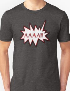 AAAA!!! Scream Hysterical Cartoon Loud Surprise  T-Shirt