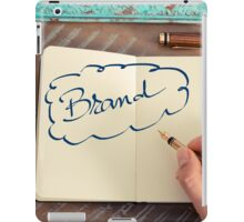 Motivational concept with handwritten text BRAND iPad Case/Skin