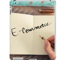 Motivational concept with handwritten text E-COMMERCE iPad Case/Skin