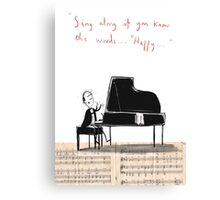 """Sing along if you know the words..."" Canvas Print"
