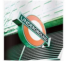 London Underground Sign Poster