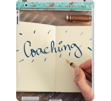 Motivational concept with handwritten text COACHING iPad Case/Skin