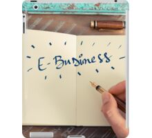 Motivational concept with handwritten text E-BUSINESS iPad Case/Skin