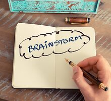 Motivational concept with handwritten text BRAINSTORM by Stanciuc