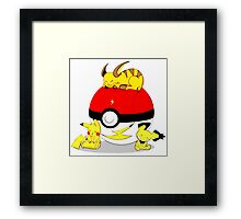 Cute Pokemon Sleep Framed Print