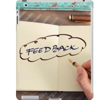Motivational concept with handwritten text FEEDBACK iPad Case/Skin