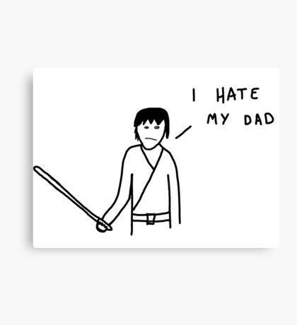 Badly drawn Jedi - I hate my dad (parody) Canvas Print