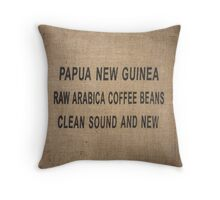 PNG Coffee Bag Throw Pillow