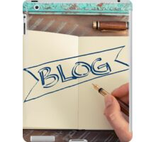 Motivational concept with handwritten text BLOG iPad Case/Skin