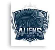Aliens Team Canvas Print