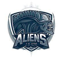 Aliens Team Photographic Print