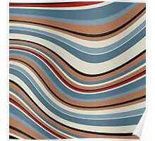 Abstract retro striped colorful background Poster