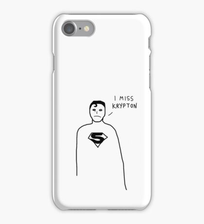 Badly drawn Superhero - Homesick (parody) iPhone Case/Skin