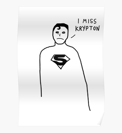 Badly drawn Superhero - Homesick (parody) Poster