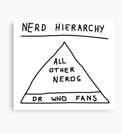 Nerd Hierarchy - Dr Who troll design  Canvas Print