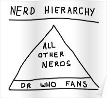 Nerd Hierarchy - Dr Who troll design  Poster