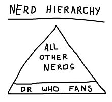 Nerd Hierarchy - Dr Who troll design  Photographic Print