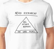 Nerd Hierarchy - Dr Who troll design  Unisex T-Shirt