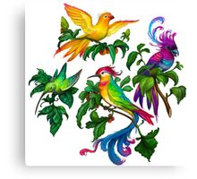 Beautiful birdies print pattern Canvas Print
