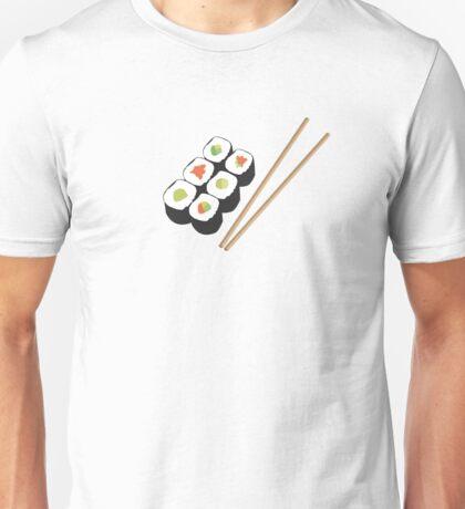Sushi rolls with chopsticks Unisex T-Shirt