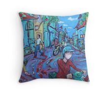 'Hanoi Street' Throw Pillow