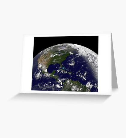Tropical storms on planet Earth. Greeting Card