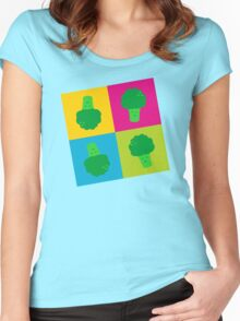 Popart Broccoli Women's Fitted Scoop T-Shirt