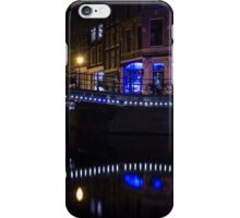 Magical Amsterdam Night - Blue, White and Purple Lights Symmetry iPhone Case/Skin