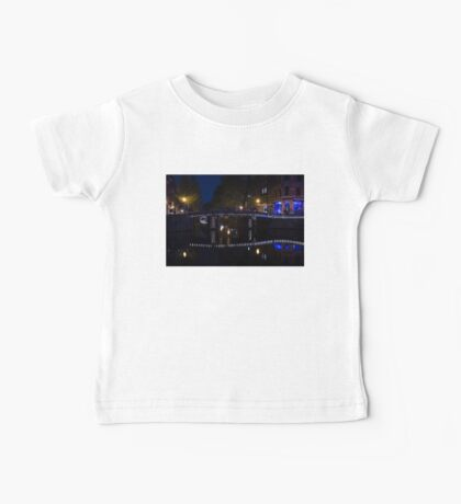 Magical Amsterdam Night - Blue, White and Purple Lights Symmetry Baby Tee
