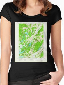 New York NY Muskellunge Lake 130739 1961 24000 Women's Fitted Scoop T-Shirt
