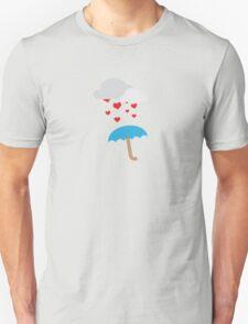 Umbrella with hearts T-Shirt