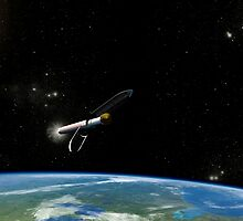Artist's concept of the Atlas V541 launch vehicle in orbit. by StocktrekImages