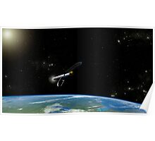 Artist's concept of the Atlas V541 launch vehicle in orbit. Poster