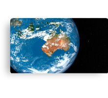 Planet Earth showing clouds over Australia. Canvas Print