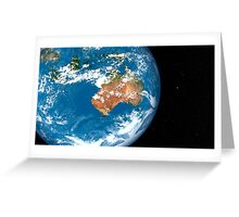 Planet Earth showing clouds over Australia. Greeting Card