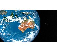 Planet Earth showing clouds over Australia. Photographic Print