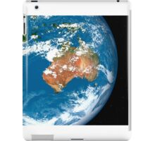 Planet Earth showing clouds over Australia. iPad Case/Skin