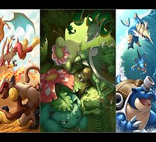 Pokemon Starters  by tarisohyaze