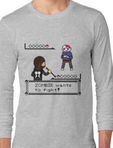 The Walking Dead / Pokemon Fanart Long Sleeve T-Shirt