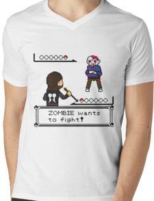 The Walking Dead / Pokemon Fanart Mens V-Neck T-Shirt